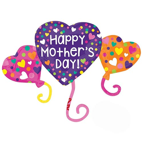 Happy Mother's Day Trio Helium Foil Giant Balloon 96cm / 38 in Product Image