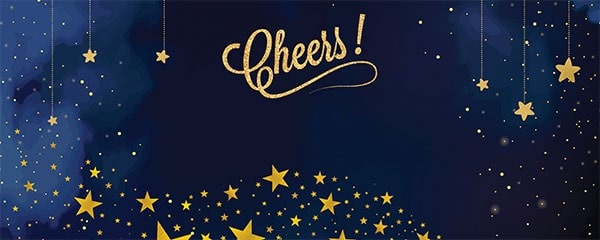 New Year Cheers Design Medium Personalised Banner – 6ft x 2.25ft