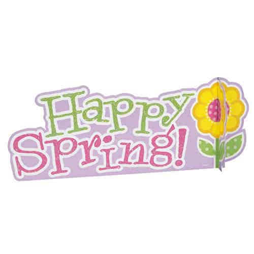Happy Spring Easter Deluxe 3D Table Centrepiece Decoration 29cm Product Image