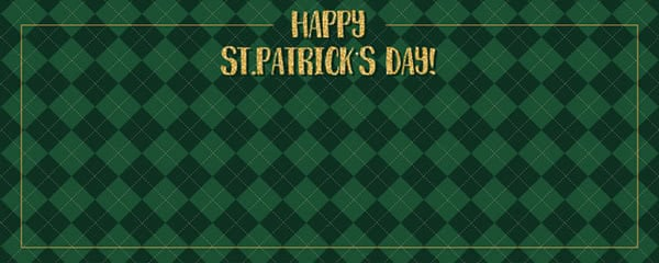 Happy St Patricks Day Diamond Pattern Design Small Personalised Banner - 4ft x 2ft
