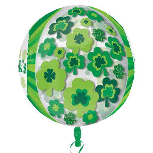Happy St Patricks Day Orbz Foil Helium Balloon 38cm / 15 in Product Gallery Image