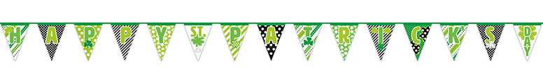 Happy St. Patrick's Day Paper Bunting 4.26m Product Image