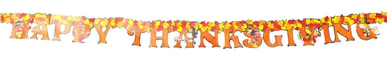 Happy Thanksgiving Jointed Cardboard Banner Streamer - 6 Ft / 1.8m Product Image