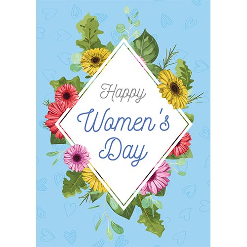Happy Women's Day Colourful Flowers A3 Poster PVC Party Sign Decoration 42cm x 30cm Product Gallery Image