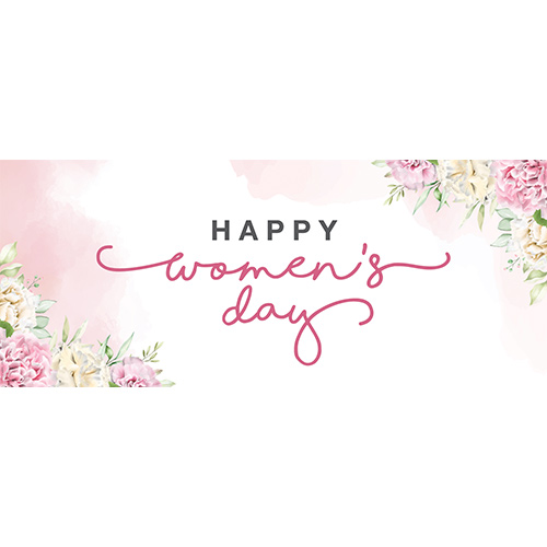 Happy Women's Day Pastel PVC Party Sign Decoration 60cm x 25cm Product Image