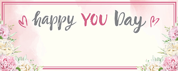 Happy You Day Heart Design Medium Personalised Banner – 6ft x 2.25ft