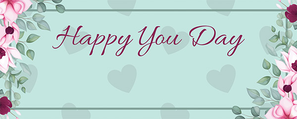 Happy You Day Mint Design Medium Personalised Banner – 6ft x 2.25ft