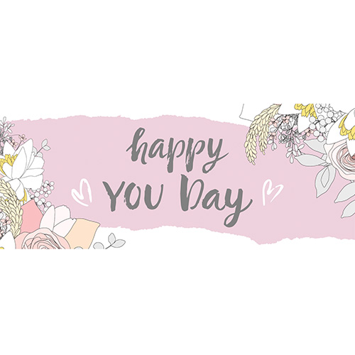 Happy You Day PVC Party Sign Decoration 60cm x 25cm Product Image