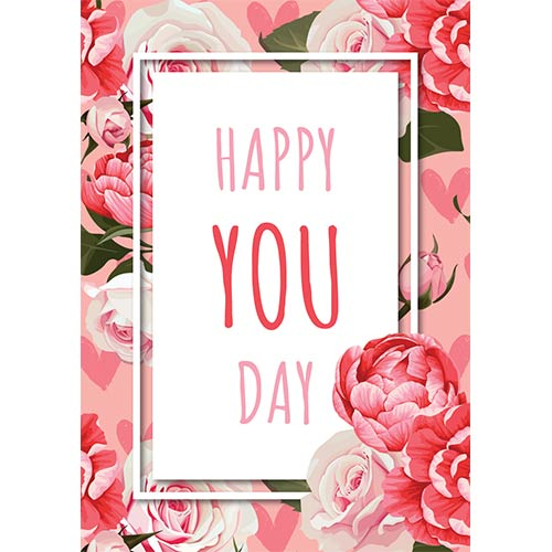 Happy You Day Roses A3 Poster PVC Party Sign Decoration 42cm x 30cm Product Gallery Image
