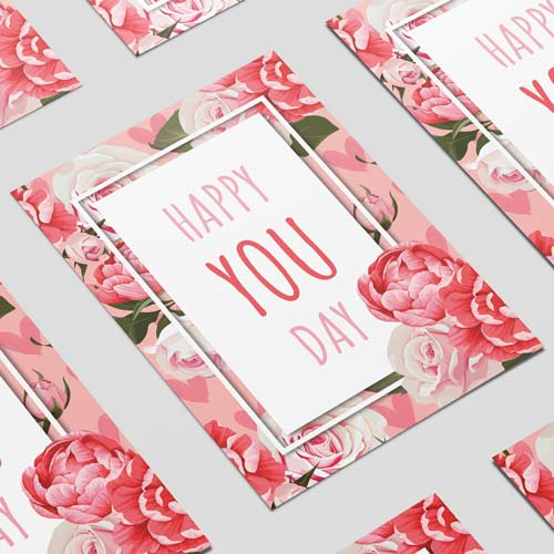 Happy You Day Roses A3 Poster PVC Party Sign Decoration 42cm x 30cm Product Image