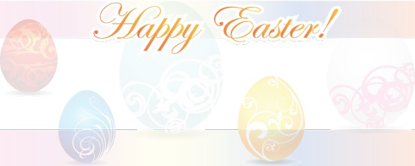 Happy Easter Background Design Large Personalised Banner - 10ft x 4ft