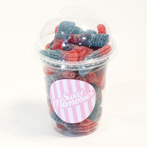 Haribo Bubblegum Bottles Zing Fizzy Fruit Flavour Jelly Sweets - 12 oz
