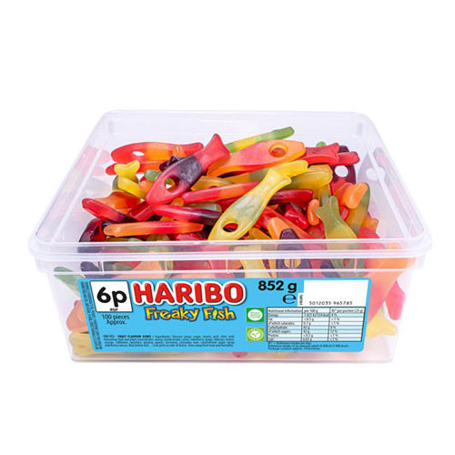Haribo Freaky Fish Fruit Flavour Jelly Sweets - Pack of 100 Product Image