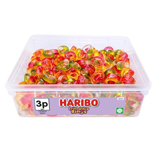 Haribo Friendship Rings Fruit Flavour Jelly Sweets - Pack of 250 Product Image