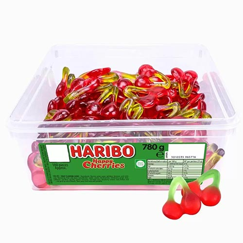 Haribo Happy Cherries Flavour Jelly Sweets - Pack of 100 Product Image
