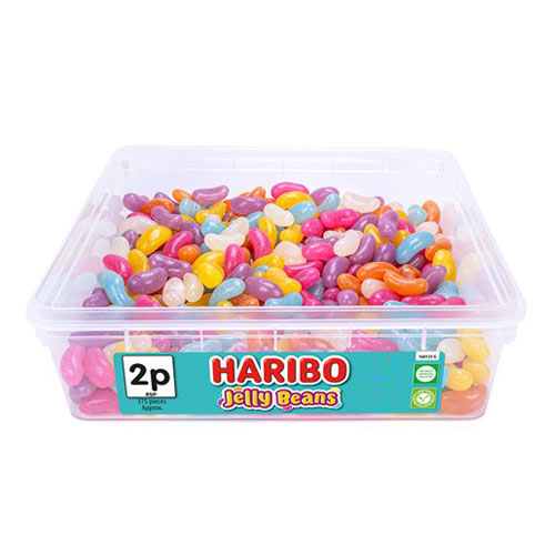 Haribo Jelly Beans Fruit Flavour Jellies Sweets - Pack of 375 Product Image