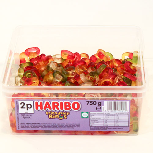 Haribo Mini Friendship Rings Fruit Flavour Jelly Sweets - Pack of 300 Product Image