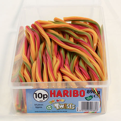 Haribo Rainbow Twists Fruit Flavour Jelly Sweets - Pack of 64 Product Image