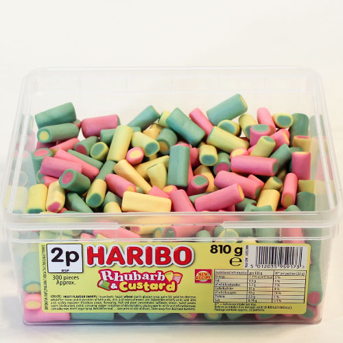 Haribo Rhubarb & Custard Fruit Flavour Sweets - Pack of 300 Product Image
