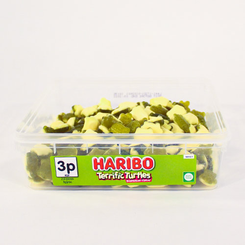 Haribo Terrific Turtles Bubblegum Flavour Jelly Sweets - Pack of 250 Product Image