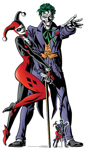 Harley Quinn And The Joker Classic Comic Couple Double Lifesize Cardboard Cutout 167cm Product Image
