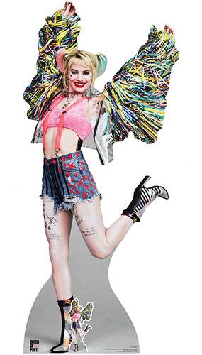 Harley Quinn Happy Butterfly Margot Robbie Birds of Prey Lifesize Cardboard Cutout 198cm