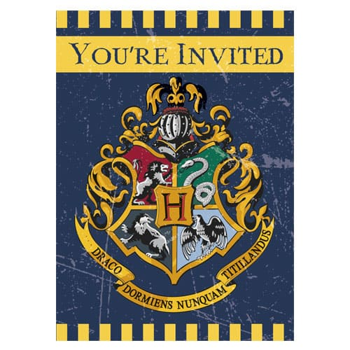Harry Potter Party Invitations with Envelopes - Pack of 8