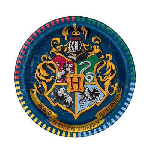 Harry Potter Party Paper Plates 18cm - Pack of 8