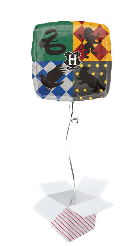 Harry Potter Square Foil Helium Balloon - Inflated Balloon in a Box Product Image