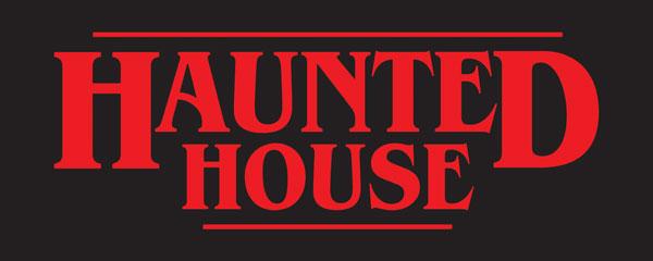 Haunted House Halloween Strange Thing PVC Party Sign Decoration 60cm x 25cm Product Image