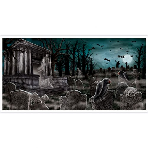 Haunted House Plastic Banner Wall Decoration 165cm
