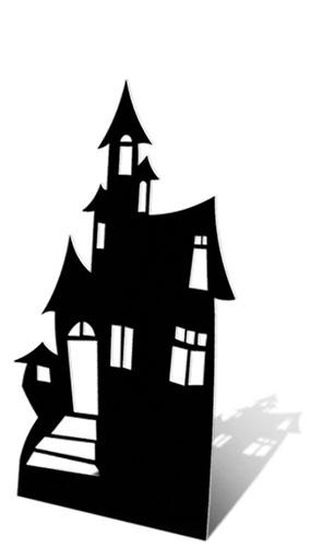 Haunted House Small Lifesize Cardboard Cutout - 98cm Product Image