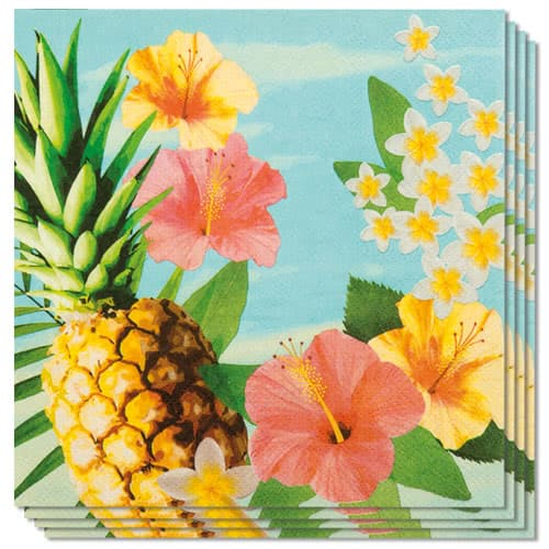 Hawaii Paradise Luncheon Napkins 33cm 2Ply - Pack of 12