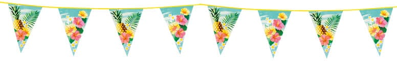 Hawaii Paradise Plastic Bunting 6m Bundle Product Image