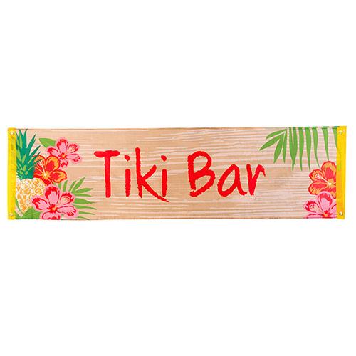 Hawaii 'Tiki Bar' Polyester Banner 180cm