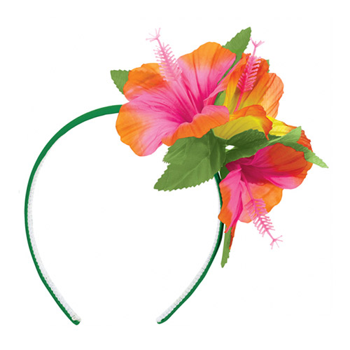 Hawaiian Hibiscus Summer Headband Fancy Dress