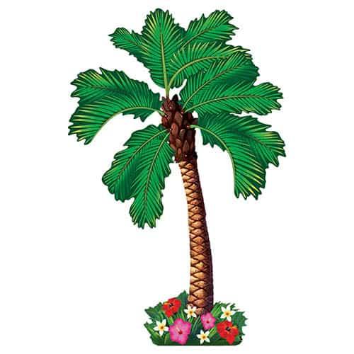 Hawaiian Jointed Palm Tree Cutout 162cm
