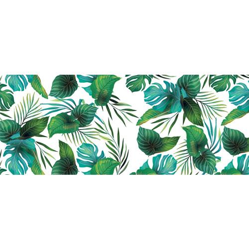 Hawaiian Leaves PVC Party Sign Decoration 60cm x 25cm
