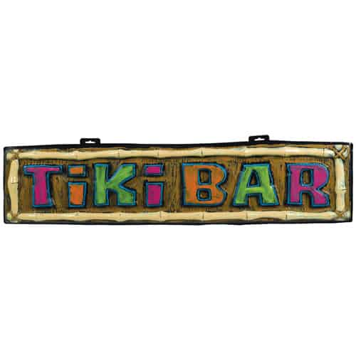 Hawaiian Tiki Bar Sign 110cm Product Image