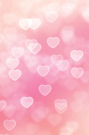Hearts Pink Design Large PVC Cake Photography Backdrop 137cm x 90cm