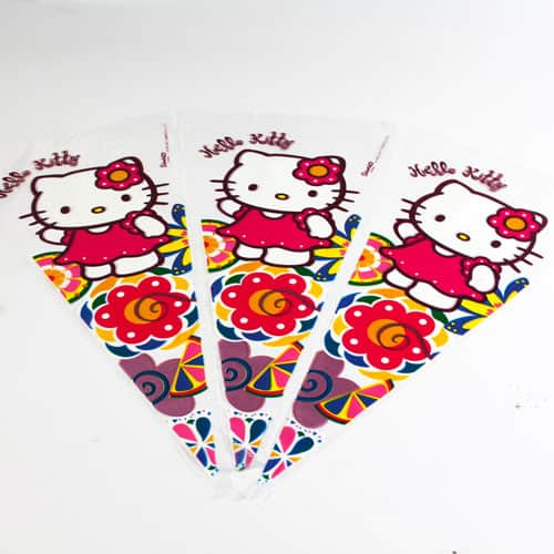 Hello Kitty Cone Shape Gift Bag - Pack Of 6