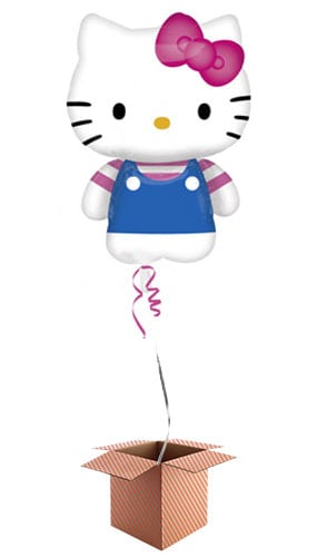 Hello Kitty Helium Foil Giant Balloon - Inflated Balloon in a Box Product Image