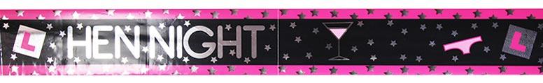 Hen Night Foil Banner - 9 Ft / 274cm