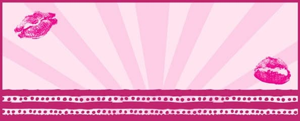 Hen Night Pink Lips Design Small Personalised Banner - 4ft x 2ft