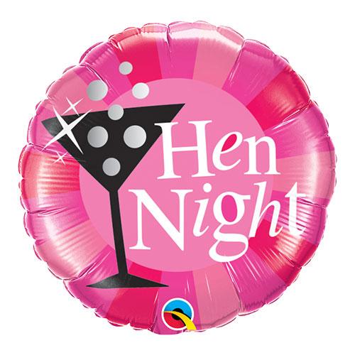 Hen Night Pink Round Foil Helium Qualatex Balloon 46cm / 18 in