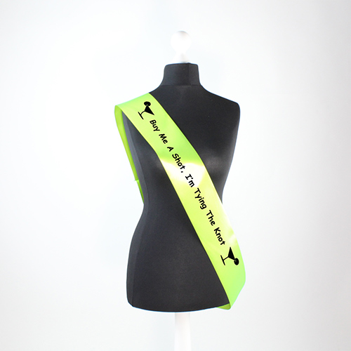Hen Night Tying The Knot Pre-Printed Sash Product Image