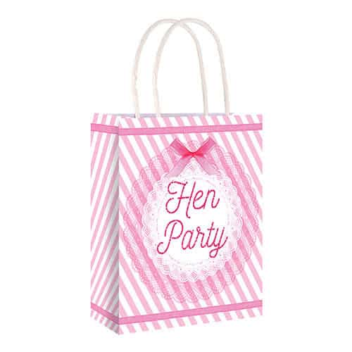 Hen Night Vintage Party Paper Bag With Handles 22cm