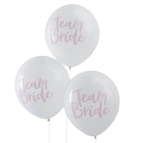 Hen Party Team Bride Latex Balloons - Pack of 10 Product Gallery Image