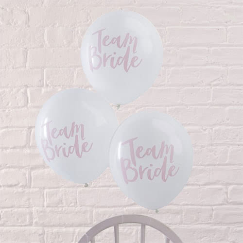 Hen Party Team Bride Latex Balloons - Pack of 10