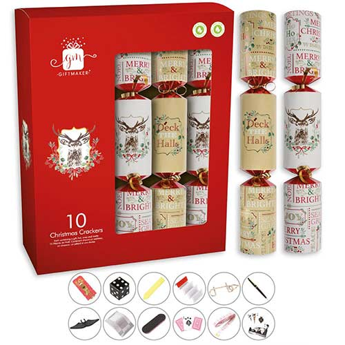 Heritage Christmas Crackers 34cm / 13 in - Pack of 10